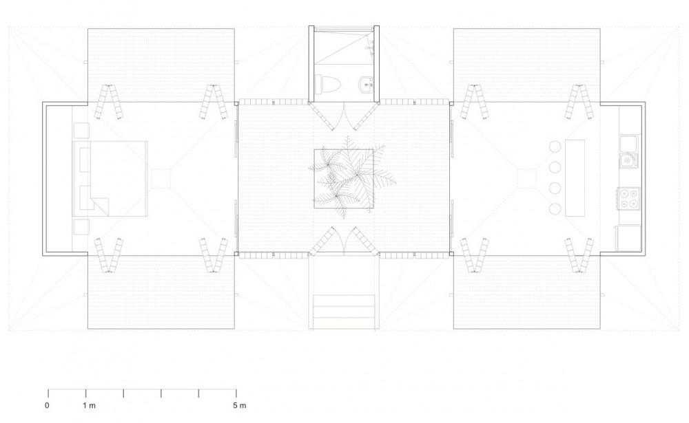 Un Bosque para una Admiradora de la Luna, Benjamin Garcia Saxe, diseño, casas, arquitectura