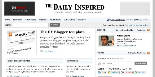 The Daily Inspired free blogger template