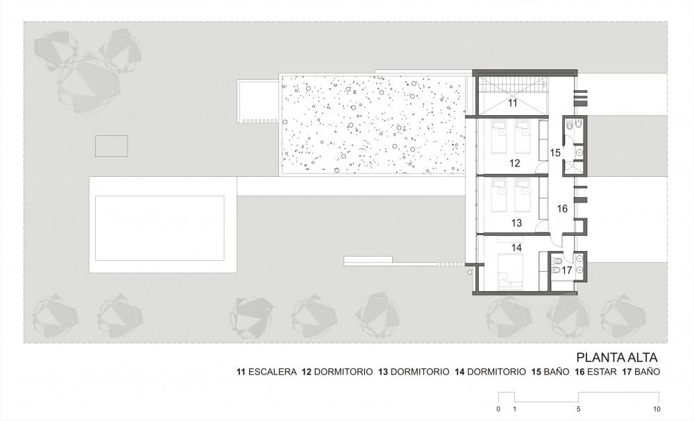 planos, Vivienda en Country Funes Hills Cadaques - Martín Guarneri + Jose Rabasedas Arquitectos