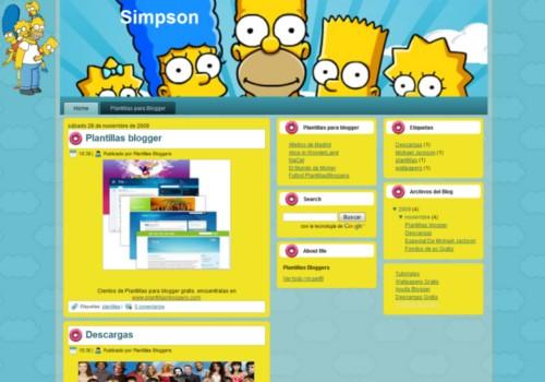 Plantilla Los Simpsons Template para BLogger Gratis