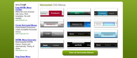 CSSメニューを自動で作成してくれるジェネレーター