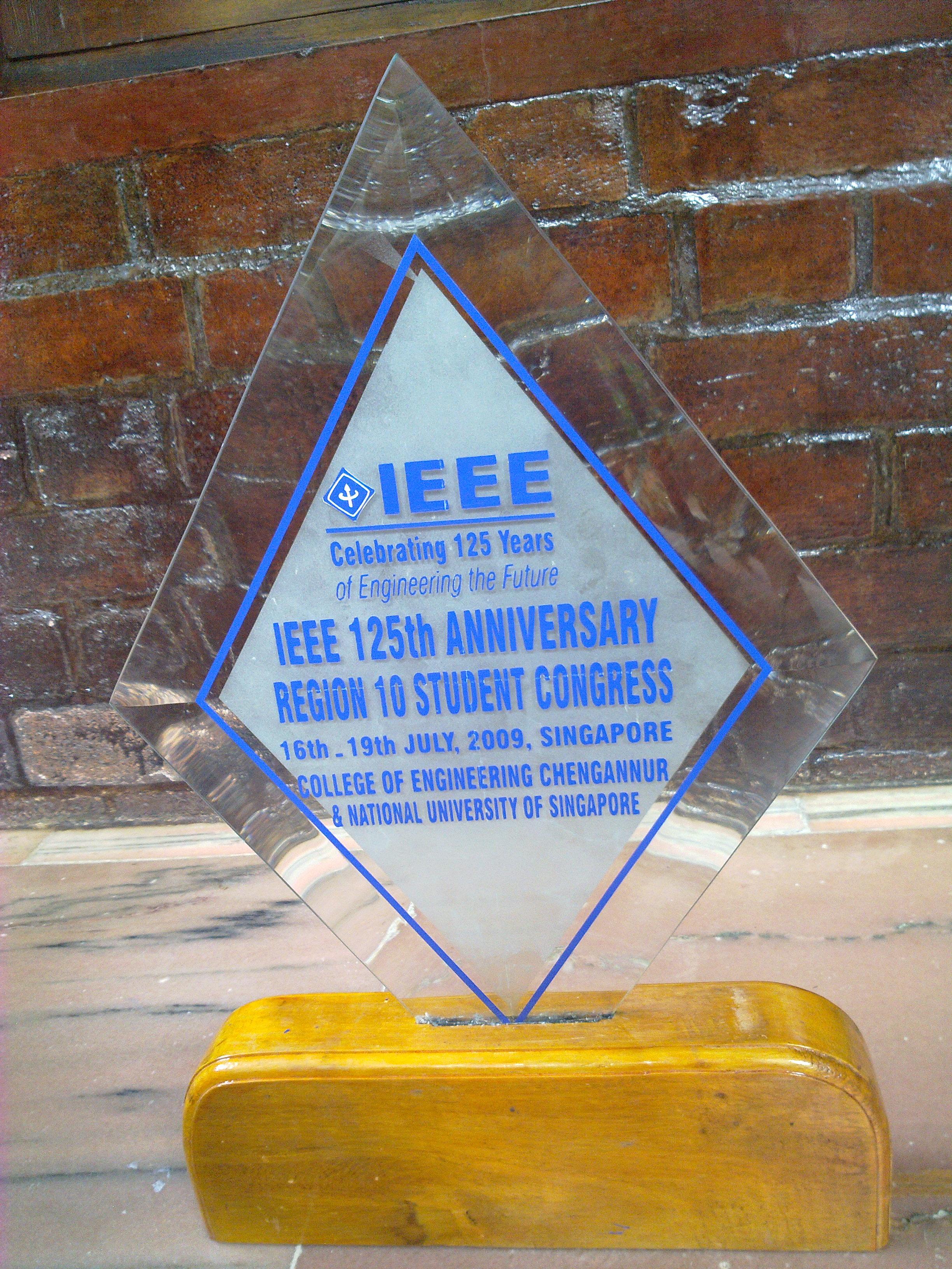 IEEE R10 SC Memento for CEC