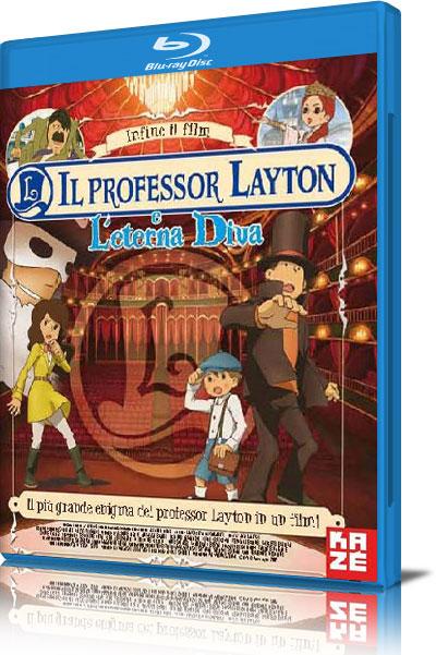Professor Layton e l'eterna diva cover Blu-Ray