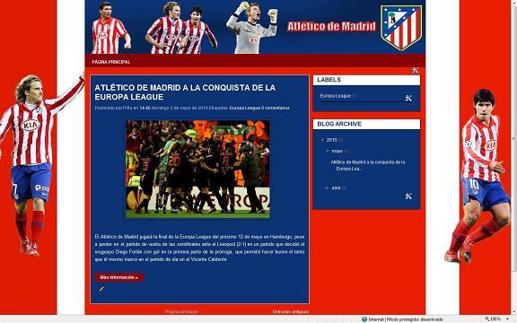 Plantilla Atletico de Madrid para blogger