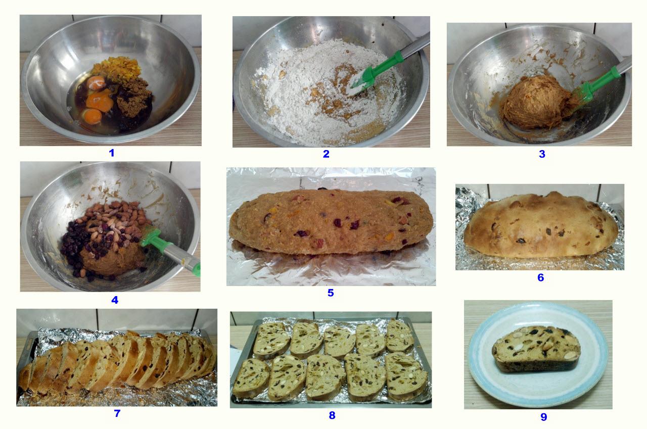 全麥無油黑糖杏仁義式脆餅Biscotti作法