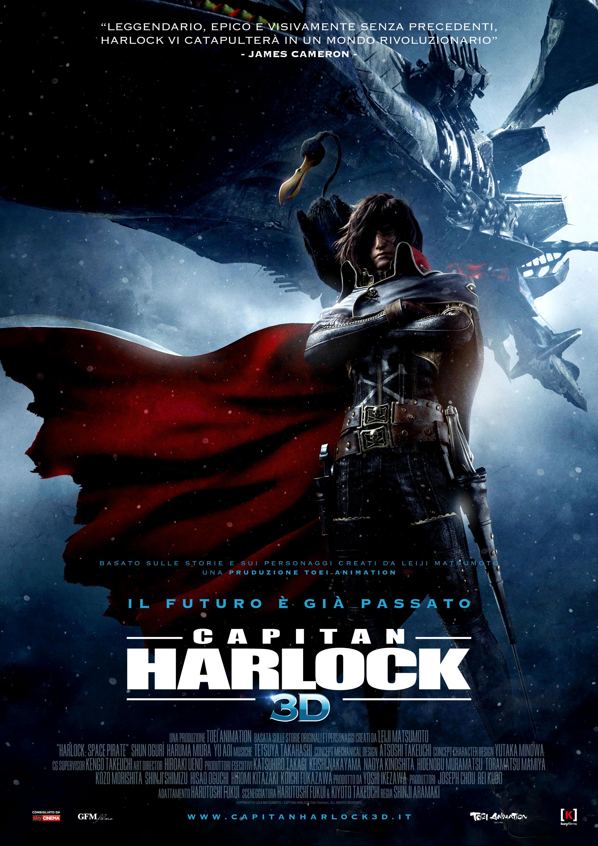 capitan harlock 3d locandina
