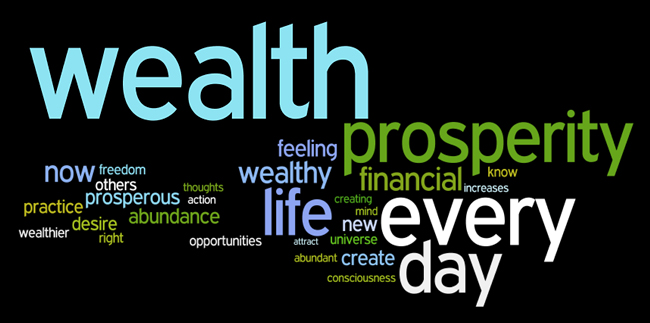 wealth affirmations wordle