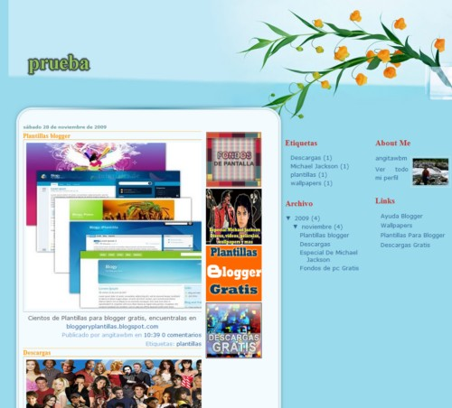 Plantilla Para Blogger Flowers