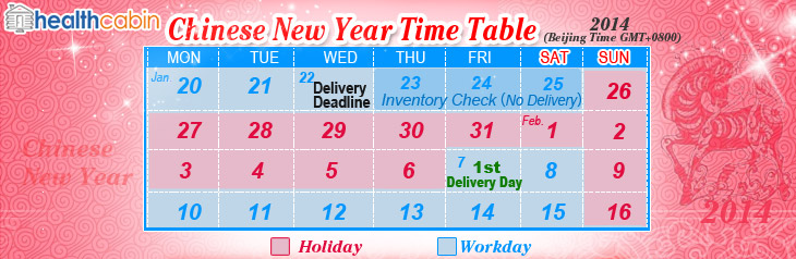 Thread: Chinese New Year Time Table ( No delivery from Jan 22 to Feb 6 ...