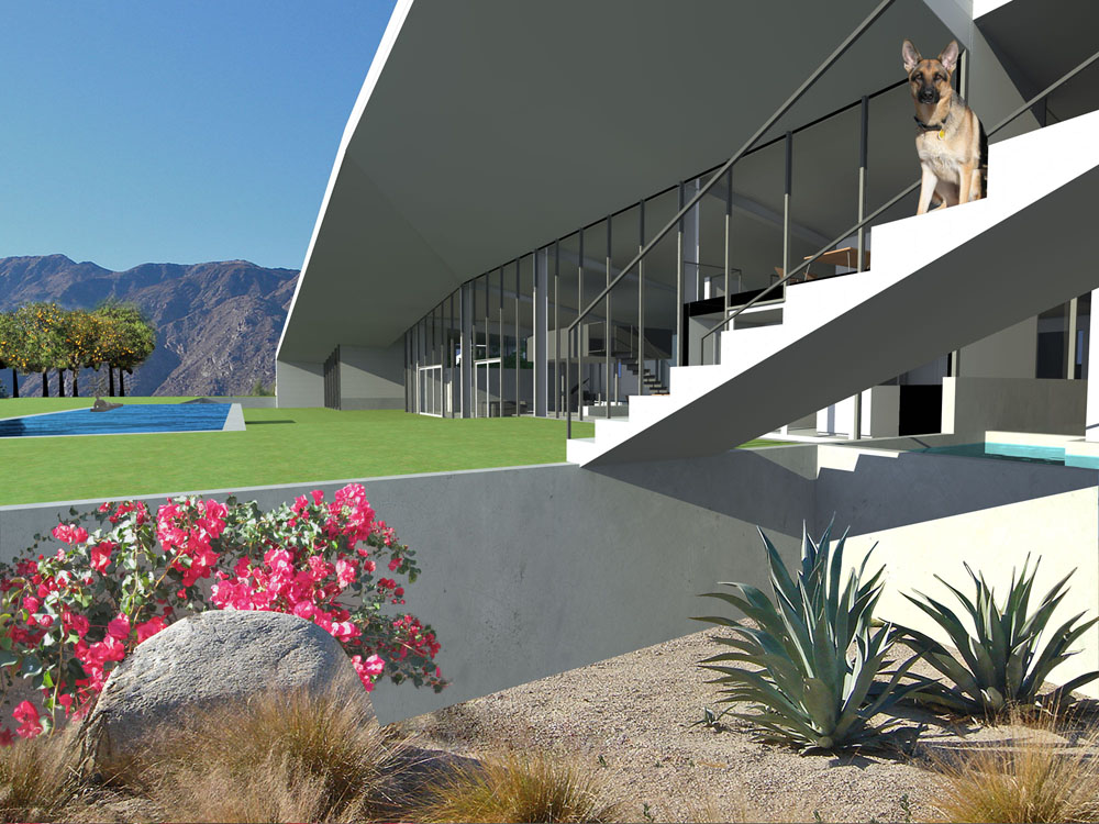 Palm-Springs-Residence, Sander-Architects, Architecture, Design, House, Interiors, Renders