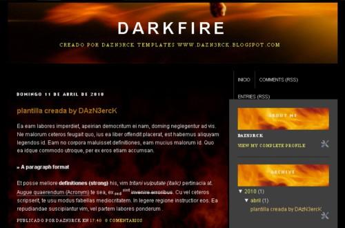 Descargar plantilla para blogger DarkFire gratis