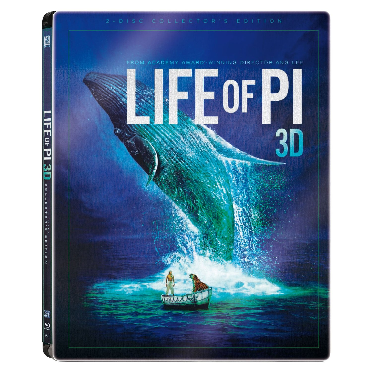 vita di pi life of pi blu-ray 3d, limited, esclusiva amzon