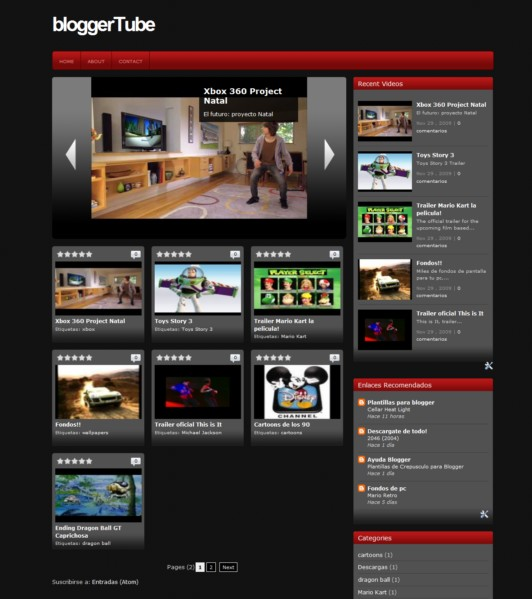 Descargar Plantilla BloggerTube, gratis para Blogger