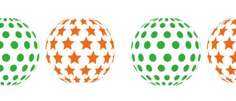 Illustrator(イラストレーター)で3Dの球体にパターン柄を入れる方法