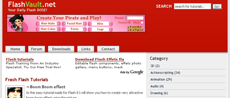 Flashの小技が紹介されているサイト。(ソースダウンロードあり)