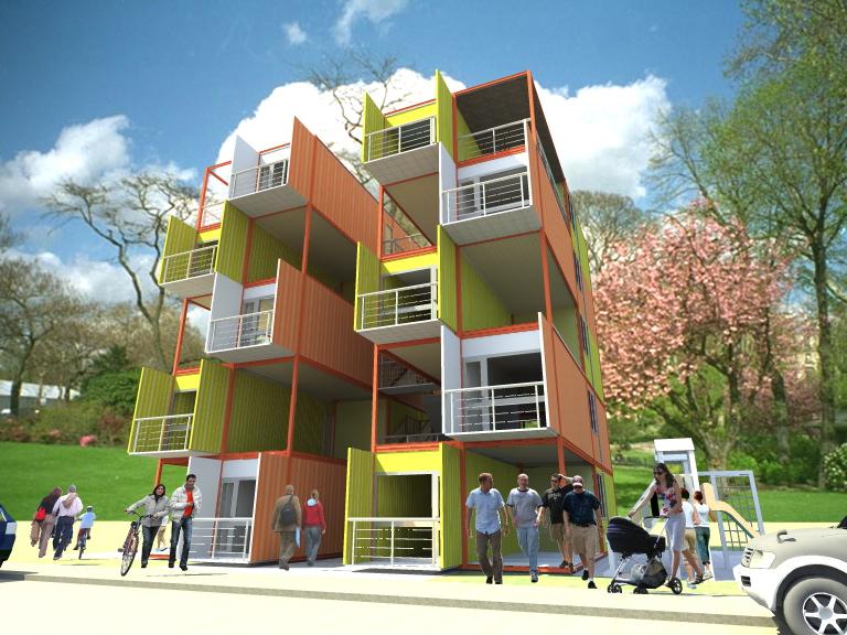 Vivienda Colectiva, Vivienda Social en Contenedores, Arqydis, Arquitectura, diseño