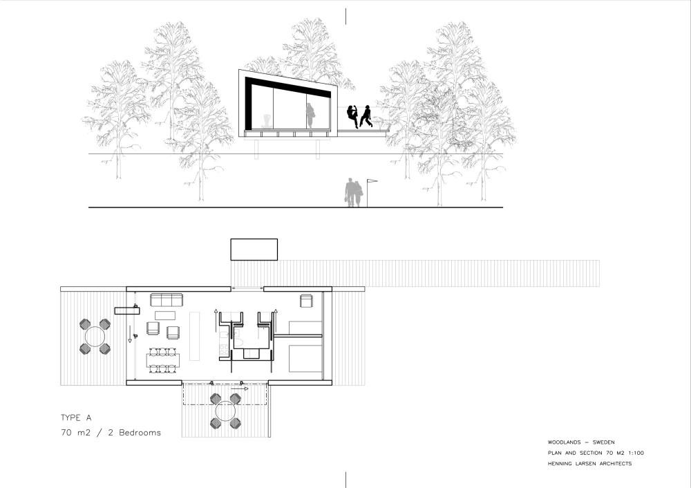 Casas en el Bosque - Henning Larsen Architects, Arquitectura, diseño, casas