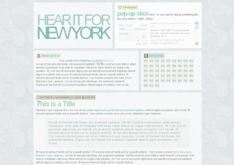 Hear it for New York plantilla gratis para blogger
