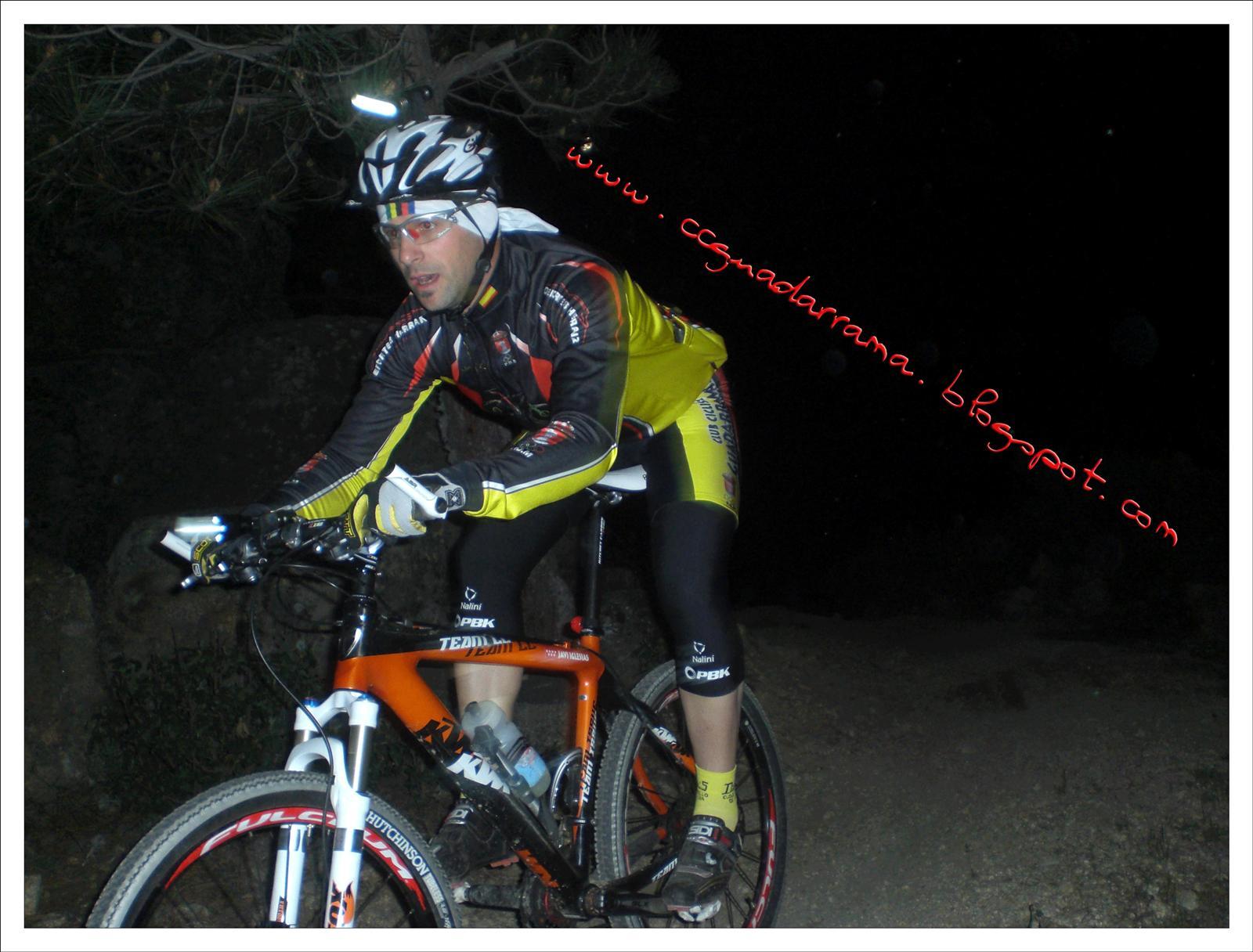 Javi en la Jarosa. 1ª Nocturna del 2010.