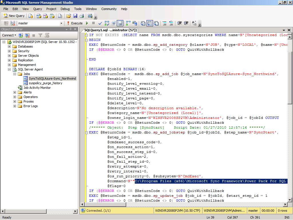 OakLeaf Systems: Synchronizing On-Premises and SQL Azure Northwind ...