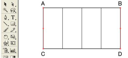 AB間に線が3本表示されます