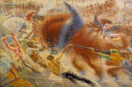 U. Boccioni, La città (che) sale, 1910-11