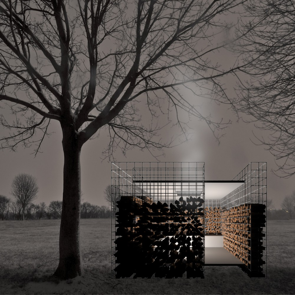 Refugio WOODPILE - Noa Biran + Roy Talmon