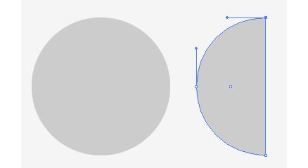 球体作成の準備(半円の作成