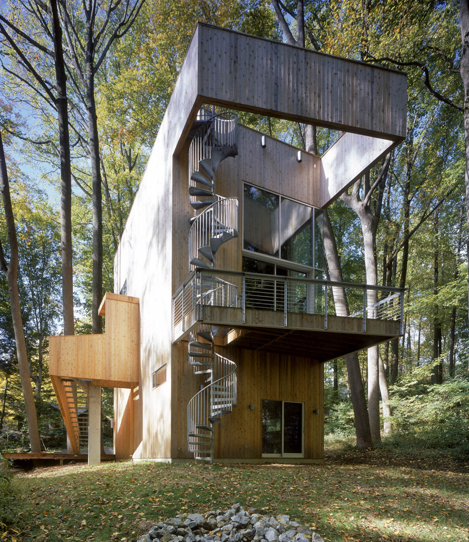 Tree House sits on a cul-de-sac at the end of a mature subdivision in ...