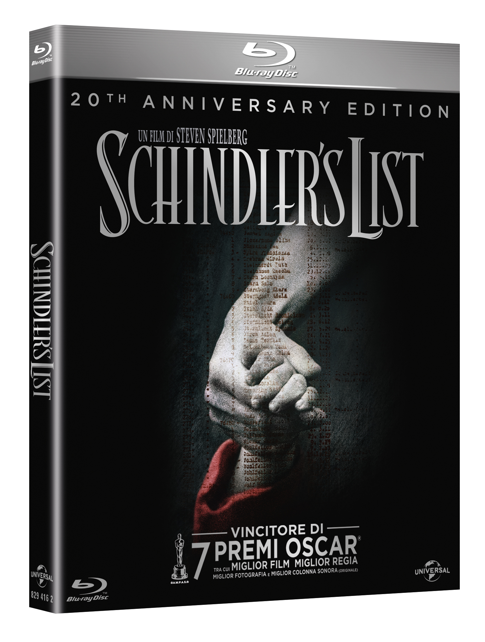Schindler's list blu-ray