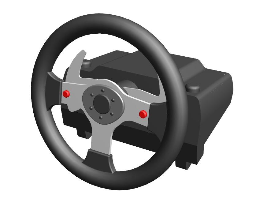 Modélisation 3D volant logitech G25