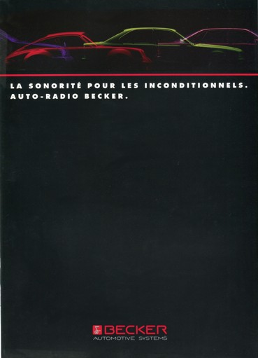 Classic BECKER car stereo catalog 1993