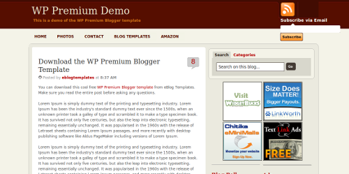 Wp Premium Blogger Template