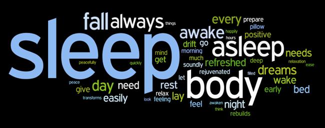 sleep affirmations wordle