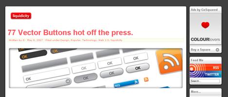 ベクター形式のボタングラフィックを無料配布しているサイト