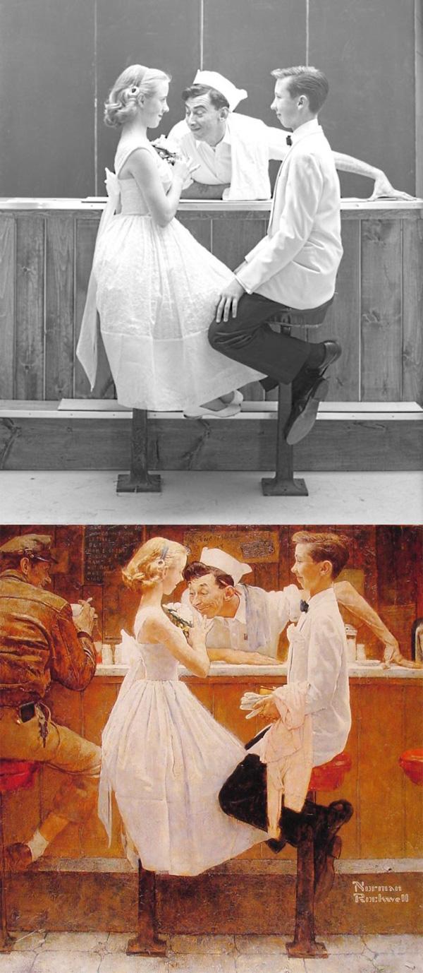 ノーマンロックウェルの作品とベースとなった写真