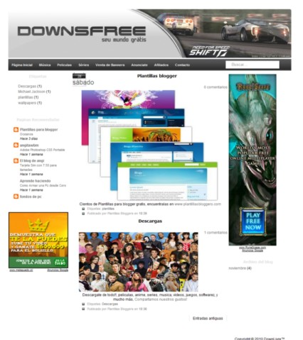 Plantilla DownFree Para Blogger