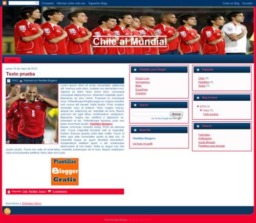 Plantilla Chile va al mundial gratis para blogger