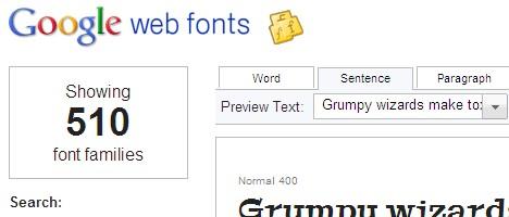 Google Web Fontsを試してみました