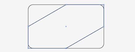 長方形の不要な部分を削除