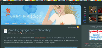 Photoshopで画像の端をめくれた感じにする方法参考サイト