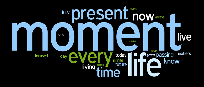 time awareness or mindfulness affirmations wordle