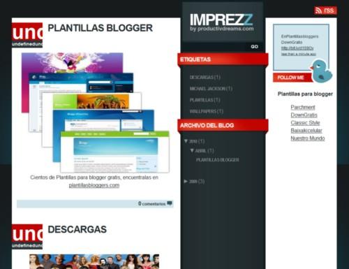 Plantilla ImpreZZ para Blogger