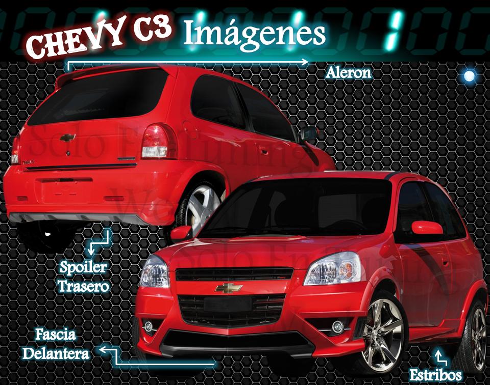 Body Kit Aerodinamico Para Chevrolet Chevy C3 $9570 Uu4S3 - Precio D