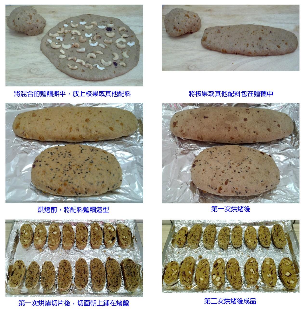 全麥無油無蛋黑糖腰果/黑芝麻義式脆餅Biscotti作法