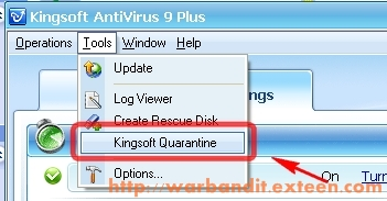 Access to Kingsoft Quarantine