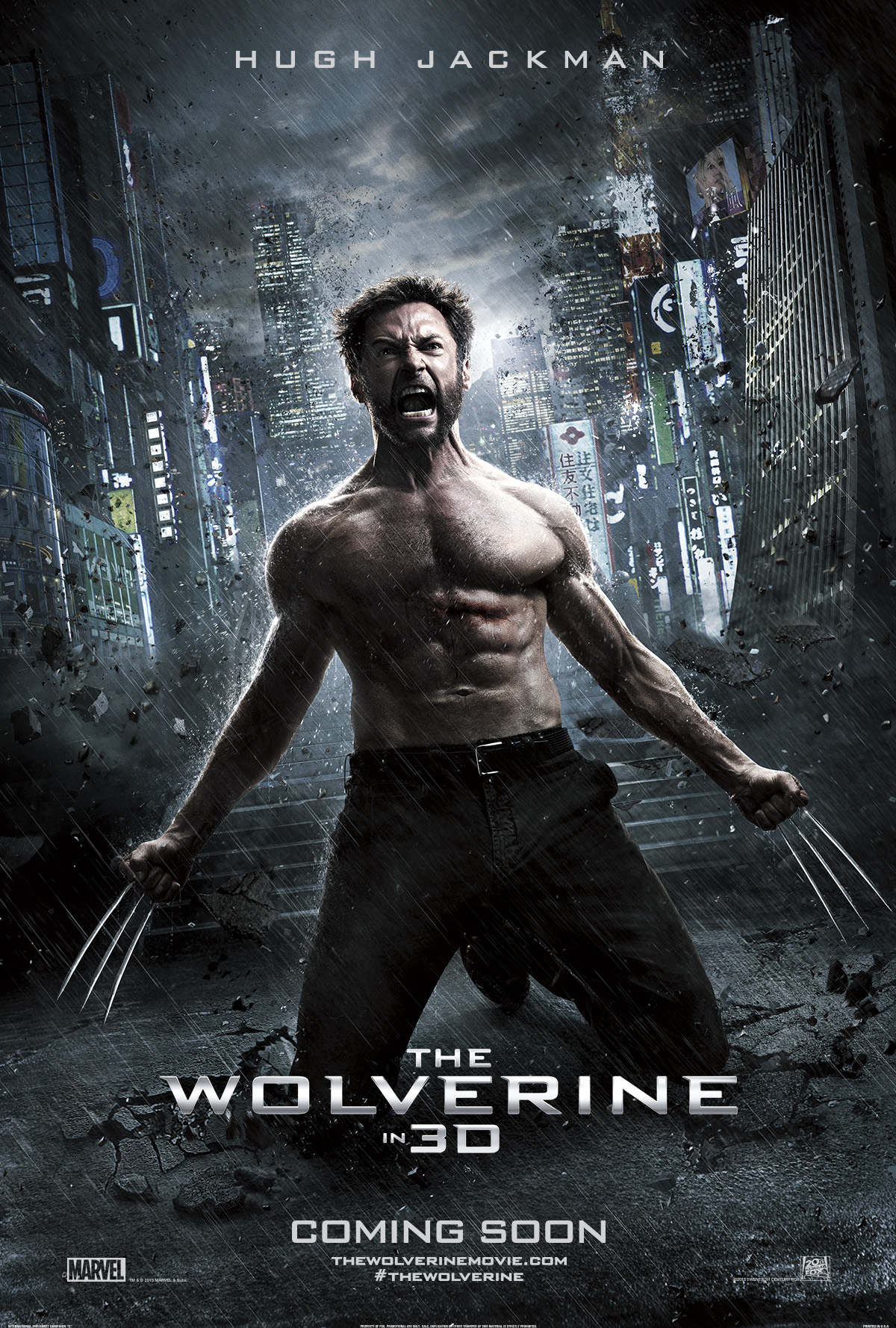 wolverine l'immortale, the wolverine poster