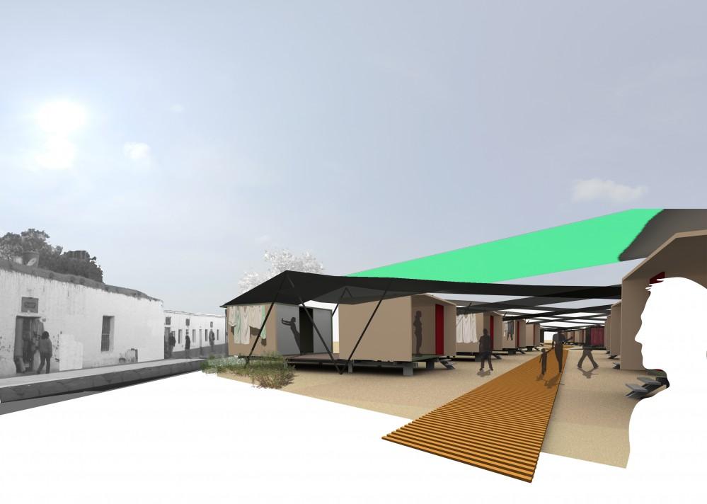 Vivienda temporal de emergencia, José Antonio Espinoza, arquitectura, casas