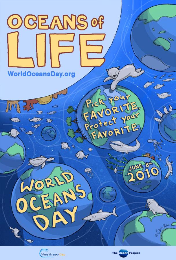 Océanos de Vida, poster Día Mundial de los Océanos