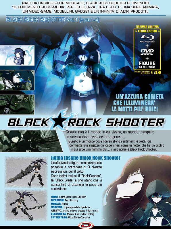 black Rock Shooter limited edition ita